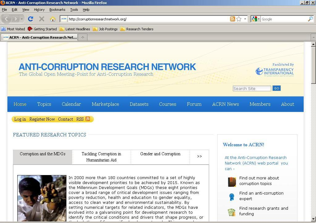 Calling all researchers of corruption | Space for Transparency