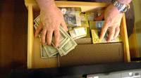 Cash in drawer