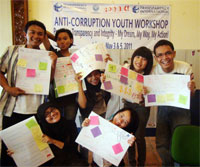 Anti-corruption workshop in Indonesia