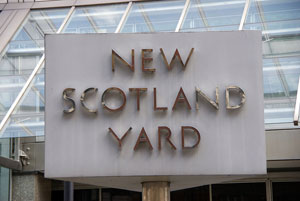 Image of New Scotland Yard sign