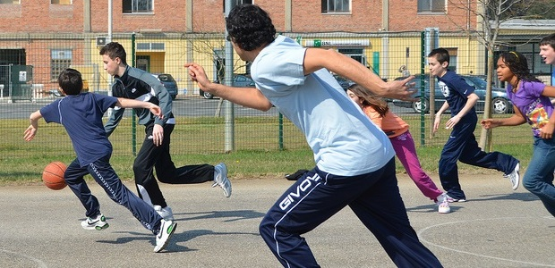 Youth playing sports in Italy.