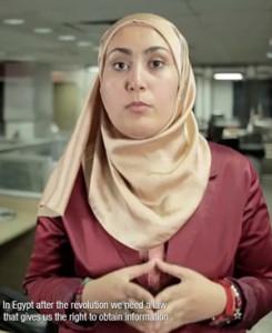 الصحفية المصرية بسمة المهدي تتكلم عن أهمية الحصول على المعلومات في فيلم امتلك المعلومة