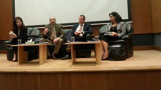Cobus de Swardt, Managing Director of Transparency International (2nd from right) at Jordan University 620